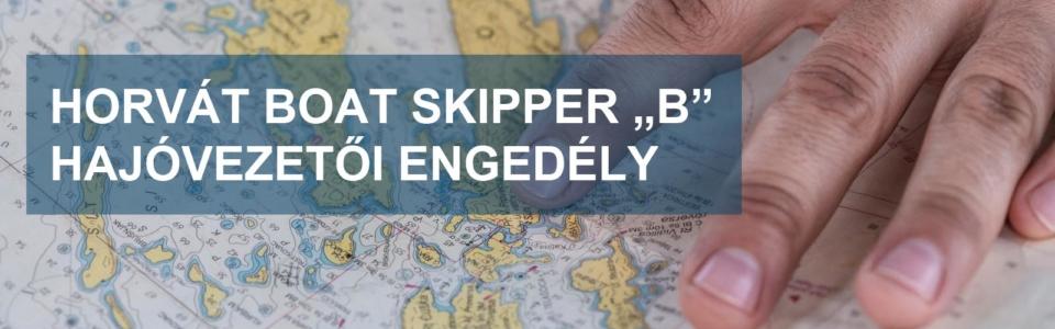"""Boat skipper """"B"""" hajóvezetői engedély"""