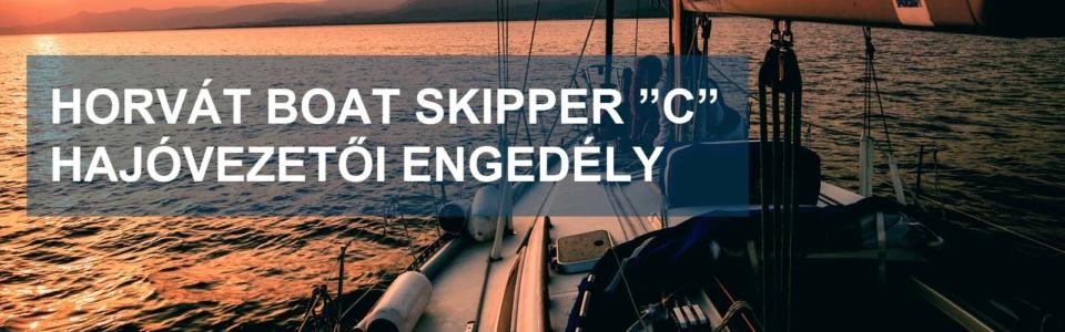 Horvát C hajóvezetői engedély